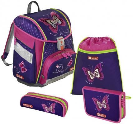 Ранец светоотражающие материалы Step by Step Touch2 Shiny Butterfly 21 л черный розовый
