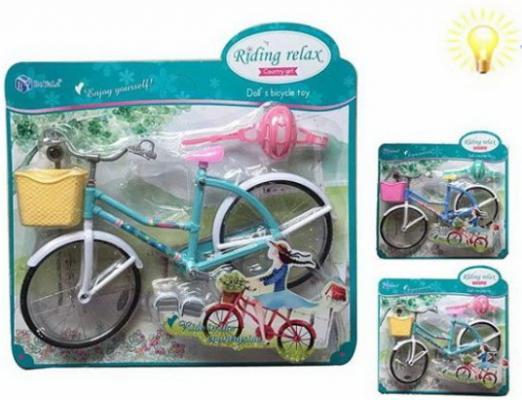 Велосипед для куклы, свет, 1 аксесс., в ассорт. велосипед silverback spectra 275 2019