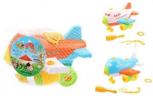 Конструктор-скрутка Наша Игрушка Самолет 42389 конструктор скрутка наша игрушка трактор 100955860
