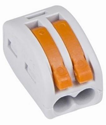 Соединительная клемма многоразовая, 2-х проводная, серая (0,08-4 мм?), (10шт.) REXANT