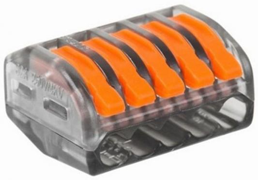Соединительная клемма многоразовая, 5-и проводная, прозрачная (0,08-4 мм?), (5шт.) REXANT
