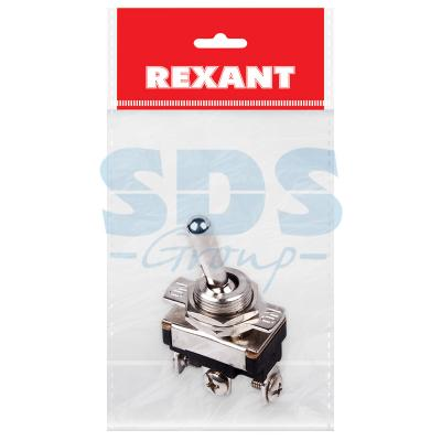 Тумблер 220V 10А (3c) ON-OFF-ON однополюсный Mini (ASW-23) REXANT Индивидуальная упаковка 1 шт kaish 10x dpdt guitar mini toggle switch 3 position on off on 6 pin car boat switches