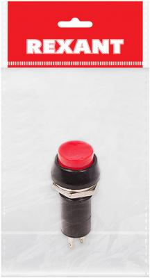 Выключатель-кнопка 250V 1А (2с) ON-OFF красная (PBS-11А) REXANT Индивидуальная упаковка 1 шт hands free black 1 7m cable stomp foot pedal on off switch ac 250v 10a tfs 1