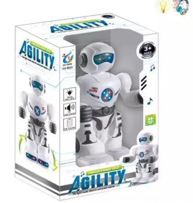 Робот на батарейках Наша Игрушка Робот 18 см двигающийся со звуком светящийся пупс наша игрушка 200133855 32 см со звуком
