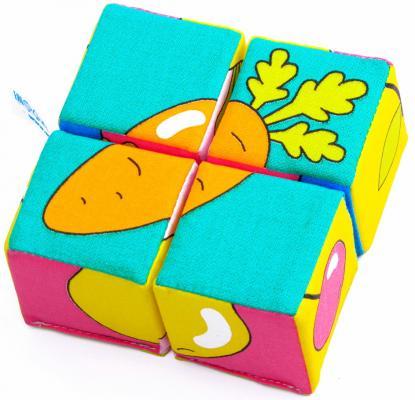 Мякиши Игрушка Собери картинку Ягоды фрукты овощи мякиши кубики собери картинку зверята