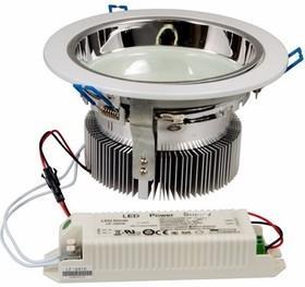 Светильник светодиодный Downlight, встраиваемый, мощность 20W, 312 SMD 3528 светодиода, напряжение 220V, размер 180* 95(d=120mm), IP23, цвет светодиодов нейтральный белый (4500-5000 К) цена