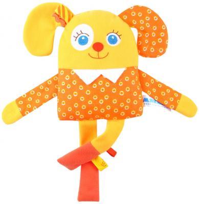 Мягкая игрушка щенок МЯКИШИ Мой Щенок текстиль оранжевый желтый
