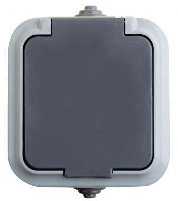 Розетка штепсельная влагозащищенная открытой установки Rexant IP 54, с заземлением,16 А