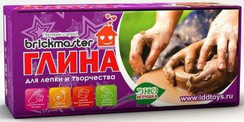 Глина для лепки БрикМастер Глина для детского творчества 500 гр 1 цвет 22988 марокканская глина 50 гр huilargan марокканская глина 50 гр