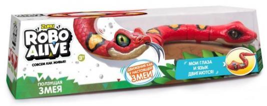 Машина ZURU INC. Робо-змея пластик, металл от 3 лет красный Т10996 zuru интерактивная игрушка zuru робо змея красная движение