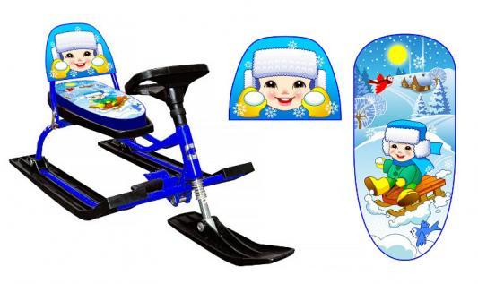 Снегокат Барс 126 Comfort Зимняя сказка со складной спинкой (Иванушка) снегокат барс race rally