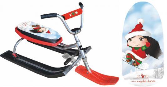 Купить Снегокат БАРС 118 Dream Team до 100 кг красный металл пластик, металл, пластик, Снегокаты для детей