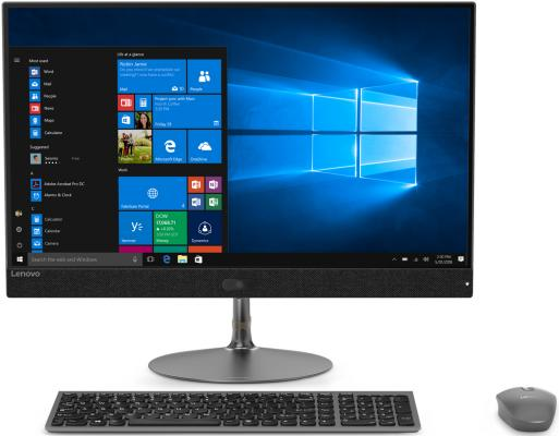 Моноблок Lenovo IdeaCentre 730S-24IKB 23.8 Full HD i7 8550u (1.8)/8Gb/SSD256Gb/CR/Windows 10/GbitEth/WiFi/BT/90W/клавиатура/мышь/Cam/темно-серый 1920x1080 relaxgo 5 android touch car dvr gps navigation rearview mirror car camera dual lens wifi dash cam full hd 1080p video recorder