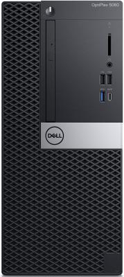 ПК Dell Optiplex 5060 MT i7 8700 (3.2)/8Gb/1Tb 7.2k/UHDG 630/DVDRW/Windows 10 Professional/GbitEth/260W/клавиатура/мышь/черный системный блок dell optiplex 3050 sff i3 6100 3 7ghz 4gb 500gb hd620 dvd rw linux клавиатура мышь черный 3050 0405