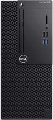 ПК Dell Optiplex 3060 MT i5 8500 (3)/8Gb/1Tb 7.2k/UHDG 630/DVDRW/Windows 10 Professional/GbitEth/260W/клавиатура/мышь/черный системный блок dell optiplex 3050 sff i3 6100 3 7ghz 4gb 500gb hd620 dvd rw linux клавиатура мышь черный 3050 0405