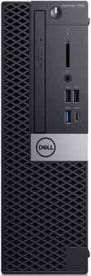 Системный блок DELL Optiplex 7060 SFF Intel Core i7 8700 16 Гб 2Tb + 16Gb SSD AMD Radeon RX 550 4096 Мб Windows 10 Pro (7060-6184) системный блок dell optiplex 7060 мт 7060 6153 черный серебристый