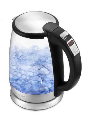 Чайник KITFORT КТ-628 2200 Вт прозрачный 1.7 л металл/стекло чайник kitfort кт 628 2200 вт прозрачный 1 7 л металл стекло