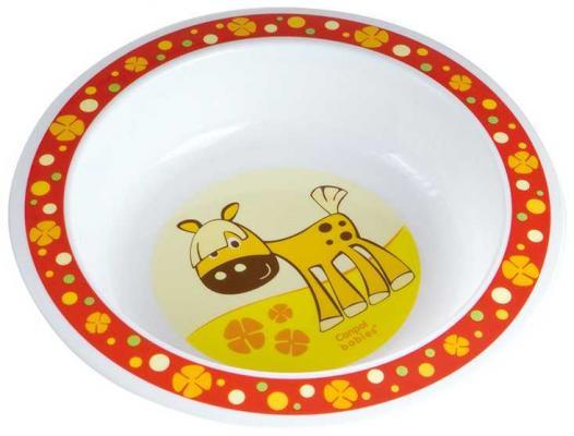 Купить Тарелка Canpol 4/412 ослик 1 шт красный от 1 года 4/412, Детская посуда для кормления