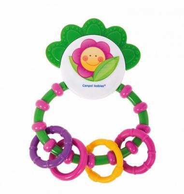 Погремушка с мягким прорезывателем - 0+ Happy garden, цвет: погремушка happy baby музыкальная с прорезывателем слоненок jumbo