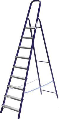 Лестница-стремянка СИБИН стальная, 10 ступеней, 208 см [38803-10]