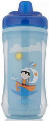 Контейнер Dr.Brown's Чашка-термос 300 мл 1 шт синий от 1 года 00-0008309, Детская посуда для кормления  - купить со скидкой