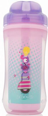 Купить Контейнер Dr.Brown's Чашка-термос 300 мл 1 шт фиолетовый от 1 года УТ-0000151, Детская посуда для кормления
