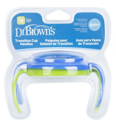 Купить Кружка Dr.Brown's Ручки для чашек 2 шт голубой от 6 месяцев DrBr_TC071, Детская посуда для кормления