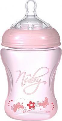 Бутылочка с антиколиковой системой , 240 мл nuby полипропиленовая бутылочка с принтами nuby 240 мл