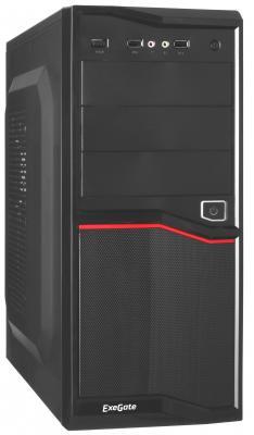 Exegate EX267184RUS Корпус Miditower Exegate AB-220A Black, ATX, <AAA400W, 80mm>, 2*USB, Audio корпус exegate ab 224u 400w black