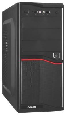 Exegate EX267181RUS Корпус Miditower Exegate AB-220A Black, ATX, <AAA350W, 80mm>, 2*USB, Audio мышь exegate sr 9021 black
