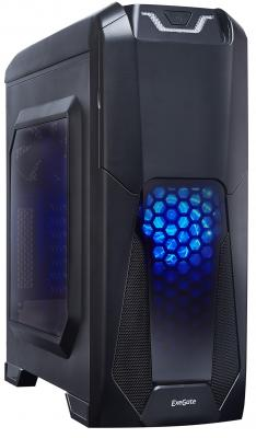 Корпус ATX Exegate EVO-8201 600 Вт чёрный цена и фото