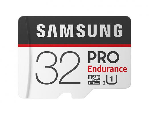 Micro SecureDigital 32Gb Samsung Pro Endurance Class 10 MB-MJ32GA/RU {MicroSDXC Class 10 UHS-I, SD adapter} genuine samsung micro sd tf memory card black orange 32gb class 10