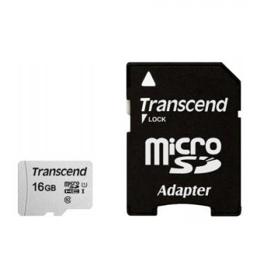 Карта памяти MicroSDHC 16Gb Transcend S300 Class10 UHS-1, U1+ адаптер [TS16GUSD300S-A] micro securedigital 16gb hc transcend class10 uhs 1 ts16gusd300s a sd адаптер