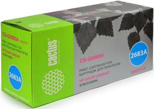 Тонер Картридж Cactus CS-Q2683AV пурпурный (6000стр.) для HP CLJ 3700 тонер картридж cactus cs q7583a пурпурный для hp clj cp3505 3800 6000стр