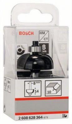Bosch 2608628364 Фреза галтельная Std S8/R10/D32,7/L14 фреза пазовая bosch std s8 d6 l16 2608628379
