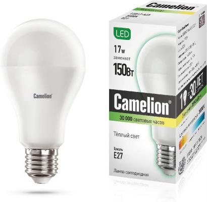 Лампа светодиодная CAMELION 12308 LED17-A65/830/E27 17Вт 220В стоимость