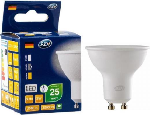 Лампа светодиодная рефлекторная Rev ritter 32327 3 GU10 3W 4000K rev ritter 32260 3
