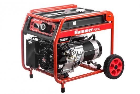 Бензоэлектростанция Hammer Flex GN6000T  5.5КВт 220В 50Гц бак 33л непр.9ч