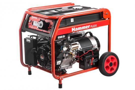 Бензоэлектростанция Hammer Flex GN7000ET электрозапуск 6.5КВт 220В 50Гц бак 33л непр.8,5ч