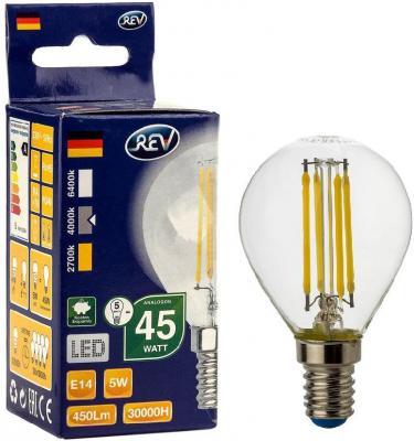 Лампа светодиодная REV RITTER 32358 7 5Вт E14 480лм 4000K холодный свет лампочка rev led r39 e14 3w 4000k холодный свет 32362 4