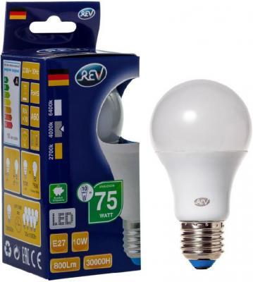 Лампа светодиодная шар Rev ritter 32267 2 E27 10W 4000K лампочка rev led a60 e27 10w 4000k 32267 2