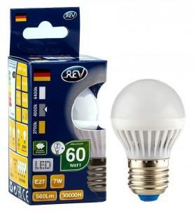 Лампа светодиодная REV RITTER 32343 3 7Вт E27 600лм 4000К холодный свет rev ritter 32260 3