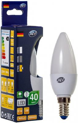 Лампа светодиодная свеча Rev ritter 32271 9 E14 5W 2700K rev ritter 32271 9