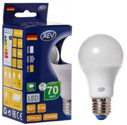 Лампа светодиодная REV RITTER 32380 8 8.5Вт E27 700лм 4000К холодный свет