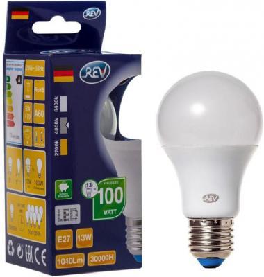 Лампа светодиодная шар Rev ritter 32268 9 E27 13W 4000K переходник rev ritter 12736 9