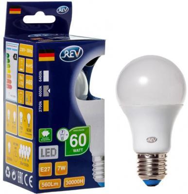Лампа светодиодная шар Rev ritter 32265 8 E27 7W 4000K лампа светодиодная шар saffit sbg4507 e27 7w 4000k 55037