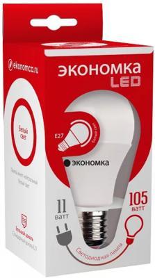 купить Лампа светодиодная ЭКОНОМКА Космос Eco_LED10wA60E2745 LED 11Вт А60 классик/алюм. Е27 4500К