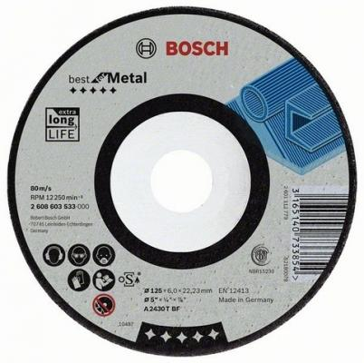 Круг зачистной BOSCH Best for Metal 115x7x22 (2.608.603.532) по металлу круг зачистной по металлу bosch 150х22х6 мм вогнутый