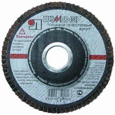 Лепестковый круг 125 Х 22 Р240(№5) КЛТ тип 2 бумага наждачная fit 11 5 х 5 м р240