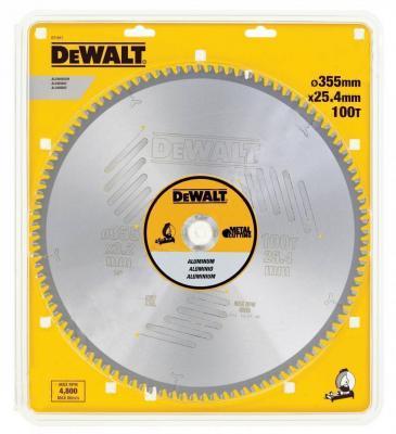 Круг пильный твердосплавный DEWALT DT1917-QZ Ф355/25.100 TCG-5° EXTREME по алюминию